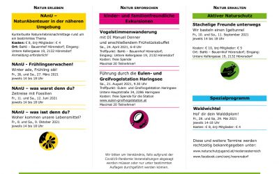 Programm der Ortsgruppe Hörersdorf
